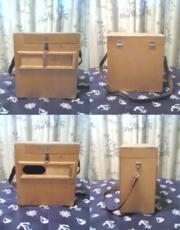 Переносной деревянный короб-стул для рыбацких снастей