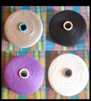 Нитки для вязания в бобинах,  тонкие,  4 цвета