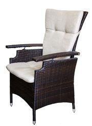 Кресло из искусственного ротанга с регулируемой спинкой Германия