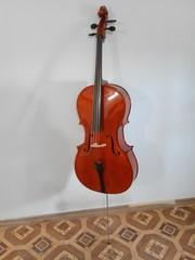 Продам виолончель Maxtone CVC100 4/4 со звукоснимателем Fishman C-100