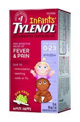 Детский Тайленол сироп,  лекарство от температуры для детей Тайленол