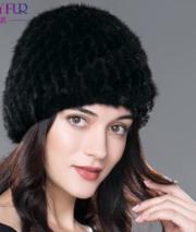 Женская норковая шапка milasha