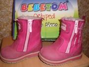 Продам ботинки зимние Bebetom для девочки 21р.