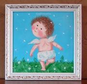 Картина маслом на подарок Гапчинская #Одуванчики