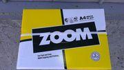 Продам бумагу Zoom А4 80 г/м2 офисная 500 листов.