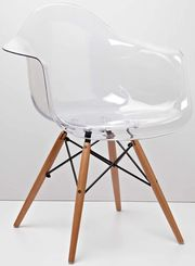 кресло Тауэр вуд прозрачное для офиса салона