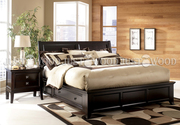 Двуспальная кровать Монако из натурального дерева