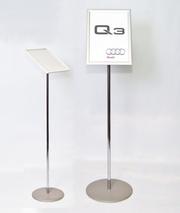 Информационная стойка указатель с рамкой клик-система А4-А3