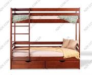 Кровати двухъярусные детские деревянные массив ольха отличное качество
