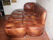 Кожаный комплект роскошной мягкой мебели б, у.в очень хорошем состоянии