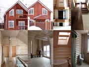 Современный деревянный дом сруб в скандинавском стиле