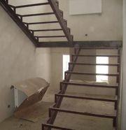 Лестницы металлические, каркасы лестниц