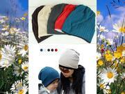 Детская и взрослая шапка в комплекте