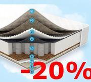 Скидка 20% на 5 моделей матрасов коллекции Sleep&Fly!