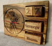 Настенные часы,  ручной работы из дерева