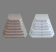 Коробки для пиццы d-30,  d-32 бурые,  белые.