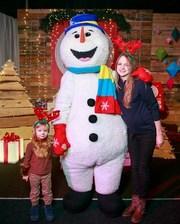 Ростовая кукла Снеговик на зимнюю свадьбу