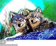 картина пара волков