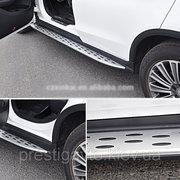 Пороги боковые на Mercedes GLC X253 под оригинал