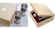 Уникальные оловянные наборы для вина Артина барельефами Дюрера и Рембр