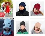 Шапка,  комплект шапка и хомут,  одежда детская,  молодежная
