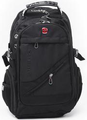 Супер рюкзак Swiss Bag для бизнеса и школы. Супер цена + часы