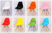 Стул деревянный пластиковое сиденье  Тауэр Вуд,  цвет белый
