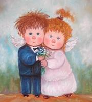 Что подарить на свадьбу-картина маслом -Любовь