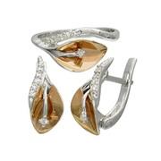 Женское кольцо и серьги