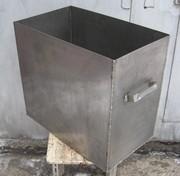 Бак прямокутний з нержавіючої сталі,  110 л.