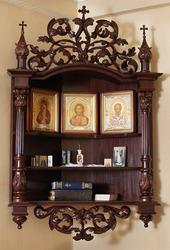 Изготовим иконостас угловой для дома из дерева.