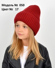 Зимняя женская вязаная шапка