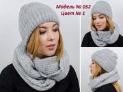 Набор для женщин,  зимняя шапка и снуд