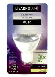 L15-990205,  LED лампочка LIVARNORUX GU10,   белый-прозрачный