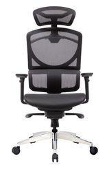 Кресло офисное ERREVO ZERO Black  в сетке,  полированная база